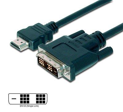 Cable HDMI-A Macho - DVI-D 18+1 (Single Link) de 5 mts.
