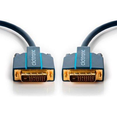 Clicktronic Cable 2 x DVI-D (24+1) M DUAL LINK de 15 Mts.