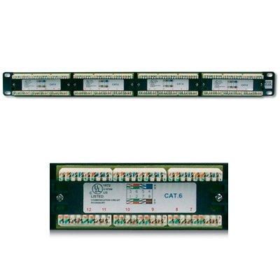 Panel de parcheo 24 conectores Hembra RJ45 Cat 6.