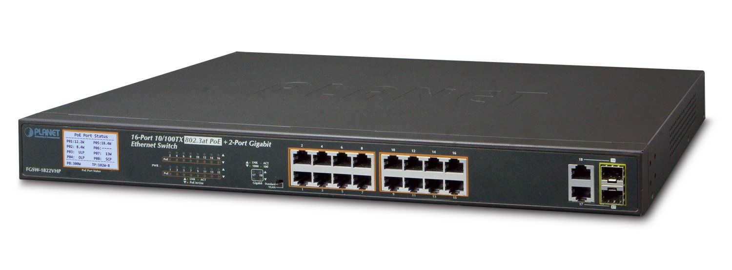 Planet 16-Port Combo Ethernet Switch