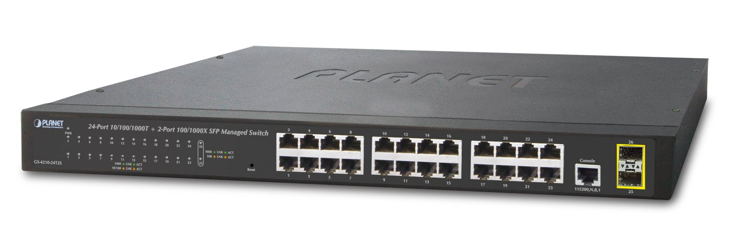 Planet 24-Port Mgd Gigabit Eth.Switc