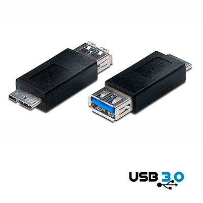 ADAPTADOR USB 3.0 A HEMBRA - MICRO USB tIPO B 5 PINES MACHO