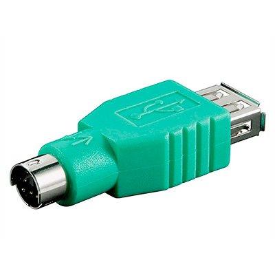 ADAPTADOR USB A HEMBRA - MINI DIN 6 PINES MACHO (PS/2)