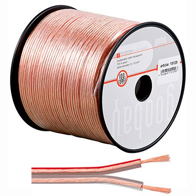 Bobina de Cable de Audio paralelo de 2,5mm.  DE 100 Mts. Cobre 100%