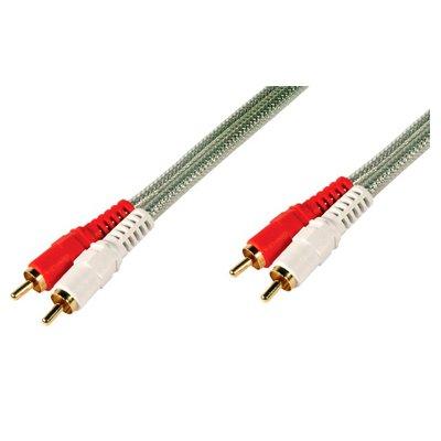 Cable de Audio (ALTA CALIDAD) 2 x RCA Macho - 2 x RCA Macho de 3 Mts.
