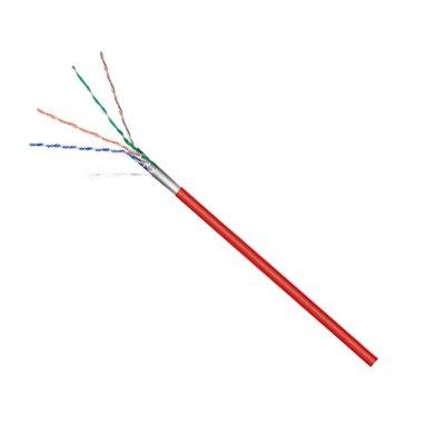 Cable F-UTP CAT-5e Flexible rollo 100 mts. Rojo (CCA)