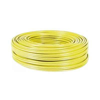 Cable FTP CAT-6 FLEXIBLE, Rollo de 100 Mts. Color Amarillo. COBRE
