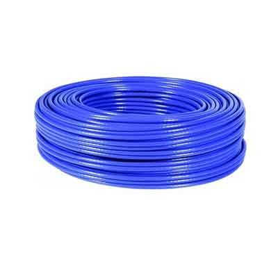 Cable FTP CAT-6 FLEXIBLE, Rollo de 100 Mts. Color Azul. COBRE