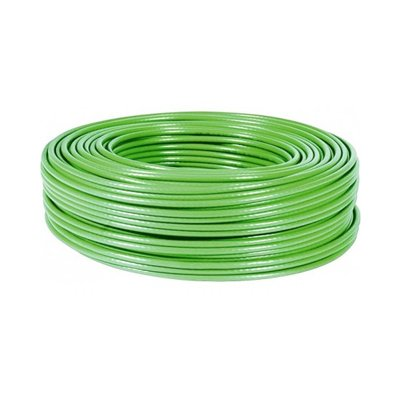 Cable FTP CAT-6 FLEXIBLE, Rollo de 100 Mts. Color Verde. COBRE