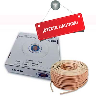 Cable UTP CAT-6 Flexible CCA de 100 Mts.