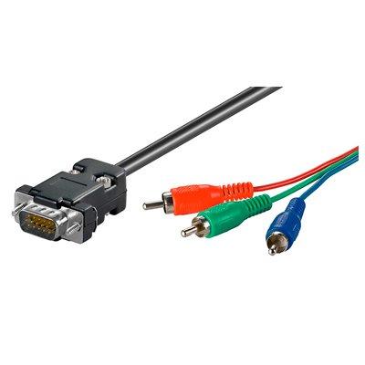 Cable de Video RGB a VGA de 2 Mts