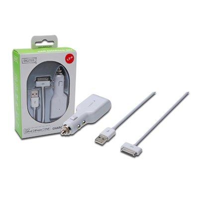 Kit de Carga Coche para dispositivos  APPLE iPOD, iPHONE e iPAD
