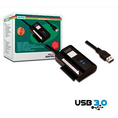 Mini adaptador USB 3.0 a SERIAL ATA + Alimentador