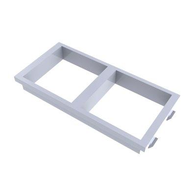 Placa de 2 huecos de 45x45mm para caja CA-1008003