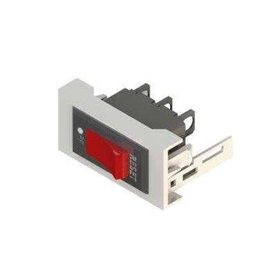 Placa con interruptor unipolar y Led 250V - 10A