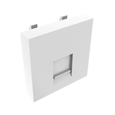 Placa para 1 conector RJ45 de cajas CA-1008xxx