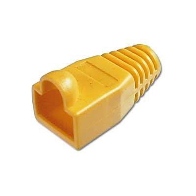 Protectores de color Amarillo para conector Macho RJ45.