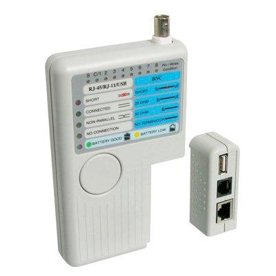 Tester de RED para conexiones RJ11, RJ12, RJ45 y USB