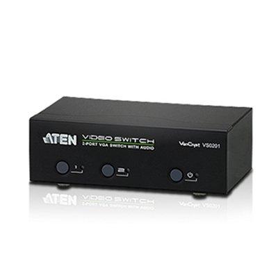 Video Selector 2Pcs - 1 Monitor con Audio y RS232