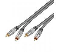 Cable Audio (ALTA CALIDAD) 2 x RCA Macho - 2 x RCA Macho de 2.5 Mts.