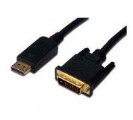 Cable Adaptador de Display Port a DVI-D 24+1 Macho de 2 Mts