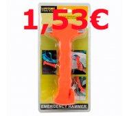 Martillo de emergencia para rotura de cristales y cortador de cinturones.