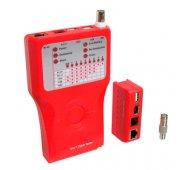 Tester de RED para conexiones RJ11, RJ12, RJ45, USB y Firewire